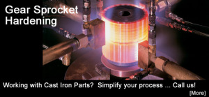 Flame Treating Systems - Gear Sprockey Hardening