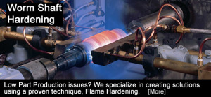 Flame Treating Systems - Shaft Hardening