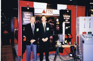 Flame Treating Systems Owners Merv and Mark back in the 80's